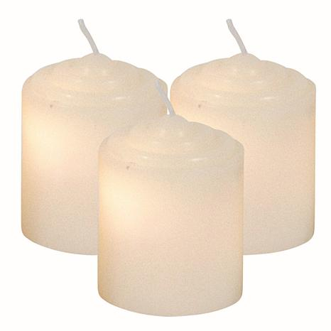 """Brite Star Set of 4 2"""" Wax Votives with Wick - Red"""