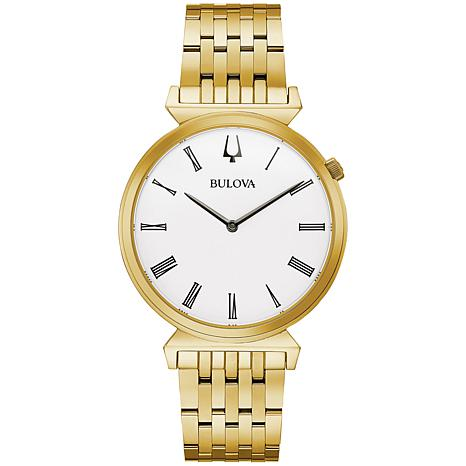 Bulova Goldtone Men's Roman Numeral Bracelet Watch