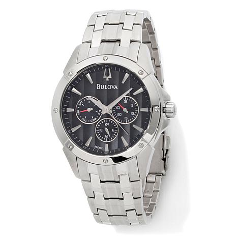 Bulova Men's Black Dial Dress Collection Bracelet Watch