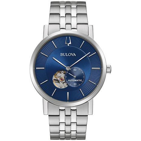 Bulova Stainless Steel Men's Link Bracelet Automatic Watch
