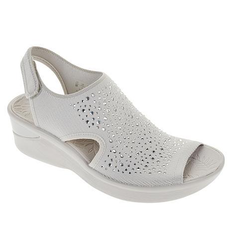 Bzees Saucy Embellished Peep-Toe Sandal