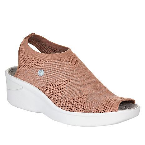 Bzees Secret Engineered Knit Peep-Toe Sandal
