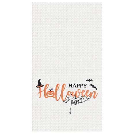 C&F Home Happy Halloween Towel White S-2