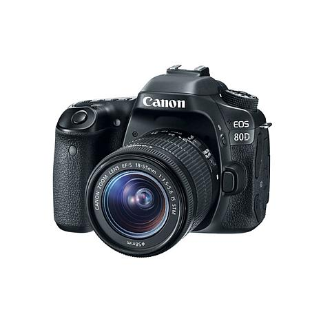 Canon EOS 80D 24.2MP Digital SLR Camera with EF-S 18-55mm Lens