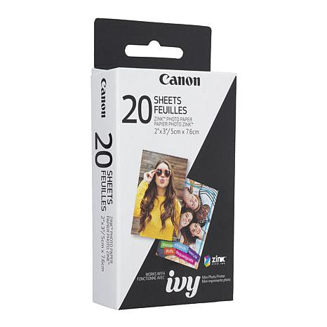 "Canon ZINK 20-pack 2"" x 3"" Photo Paper for IVY Photo Printer"