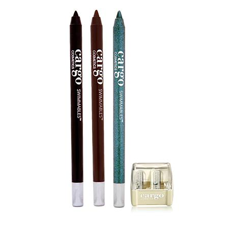 Cargo Cosmetics Swimmables Eye Pencil Classic Trio with Sharpener