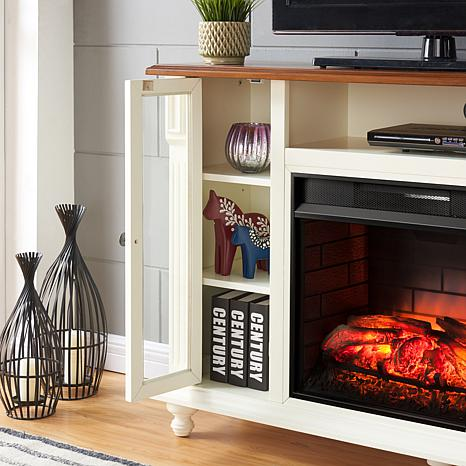 Carlinville Infrared Fireplace Tv Stand Antique White 8578683 Hsn