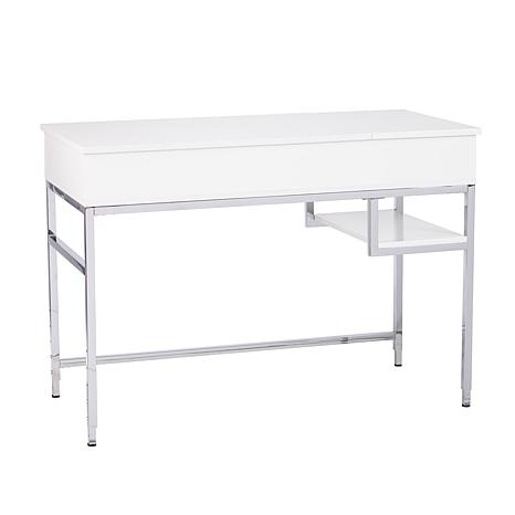 Carlo Adjustable Height Sit-Stand Desk - White