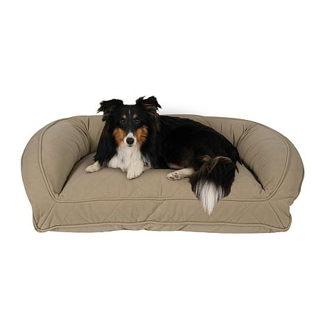 Carolina Pet Lg/XL Quilted Microfiber Bolster Bed with Orthopedic Foam