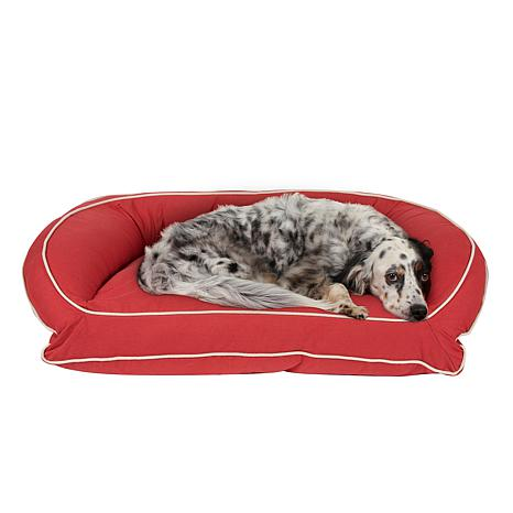 Carolina Pet Sm/Md Classic Canvas Bolster Bed with Orthopedic Foam