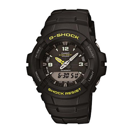 Casio Men's G-Shock Yellow Detail Analog-Digital Watch