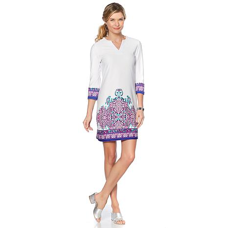 Caya Costa Print Tunic Dress with UV Protection