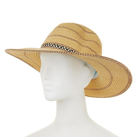 Caya Costa Wide-Brim Straw Fedora with UV Protection