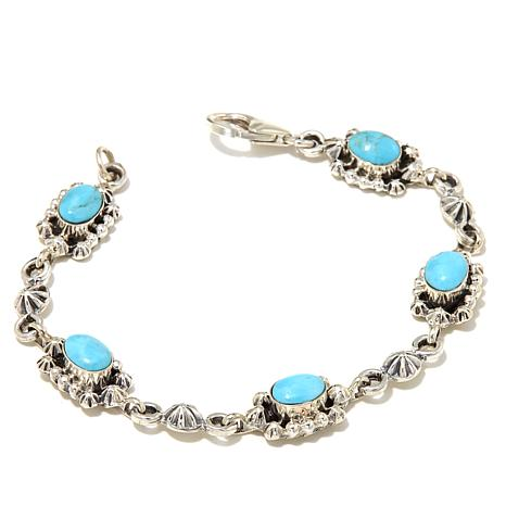 Chaco Canyon Kingman Turquoise Line Bracelet