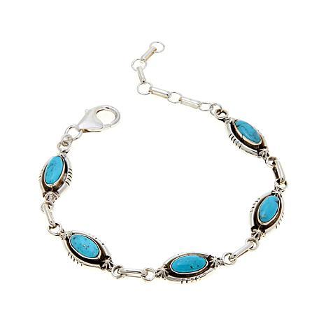 Chaco Canyon Oval Kingman Turquoise Line Bracelet