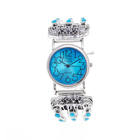 "Chaco Canyon Sleeping Beauty Turquoise ""Wolf"" Watch"