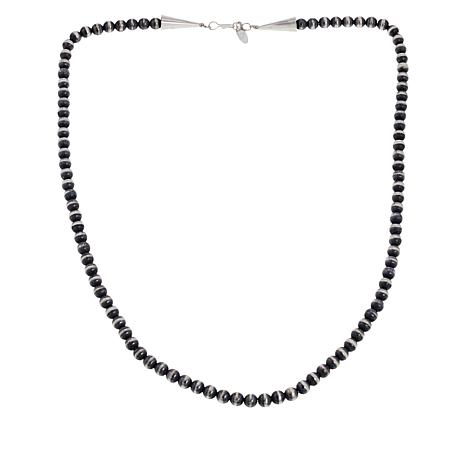 "Chaco Canyon Sterling Silver Navajo Bead 24"" Necklace"