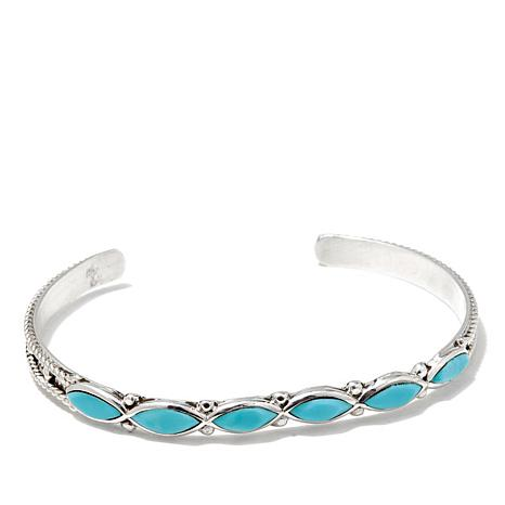 Chaco Canyon Sleeping Beauty Turquoise Zuni Sterling Silver Cuff
