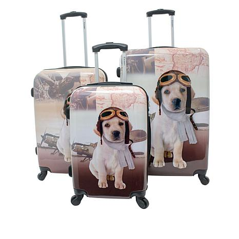 Chariot Oldies Hardside 3-piece Luggage Set