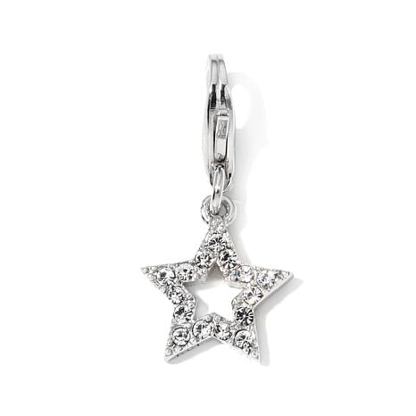 Charming Silver Inspirations Crystal Star Dangle Charm