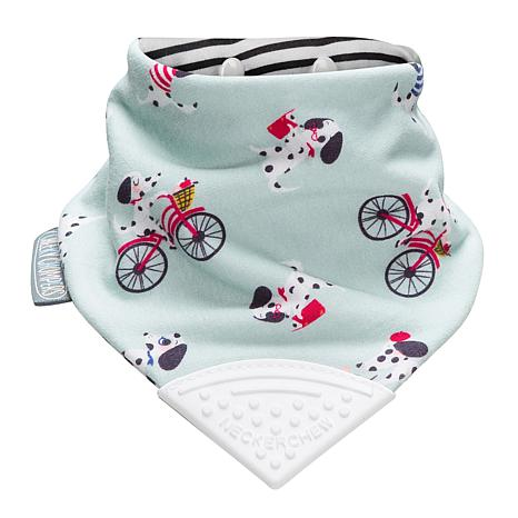 French Chic Red Cheeky Chompers Neckerchew Bib