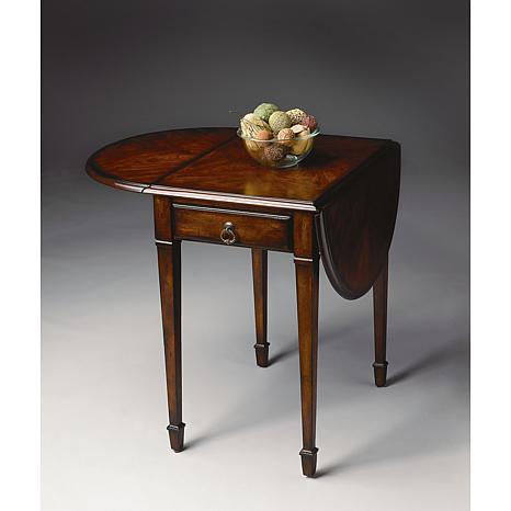 Cherry, Maple and Walnut Pembroke Table
