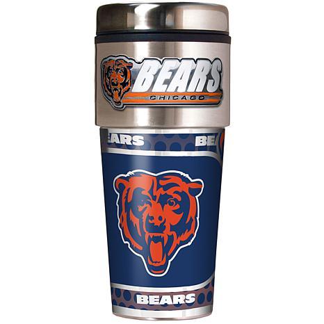 Chicago Bears Travel Tumbler w/ Metallic Graphics and Team Logo