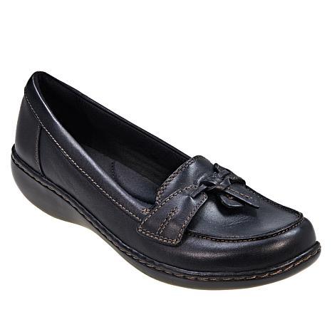 Clarks Ashland Bubble Leather Slip-On
