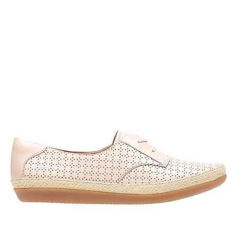 Clarks Danelly Millie Perforated Leather Shoe