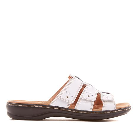 Clarks Leisa Spring Leather Triple Strap Sandal