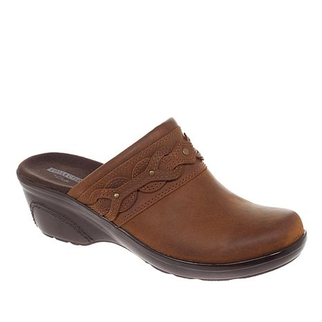 Clarks Marion Coreen Leather Wedge Clog