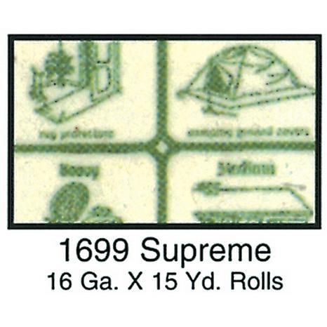 Clear Vinyl 54 Wide 15yd Roll - Supreme 16 Gauge, Green Paper