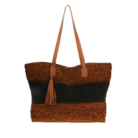 Clever Carriage Company Hand-Knitted Leather Tote