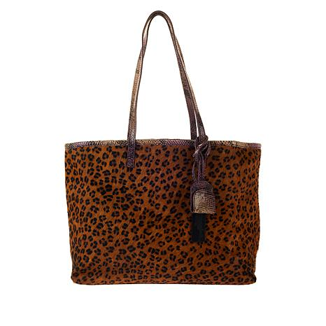 Clever Carriage Exotica Haircalf and Leather Reversible Shopper