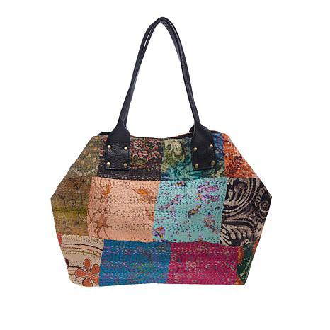 Clever Carriage Patchworked Silk Shopper