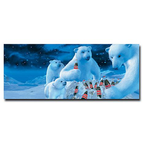 "Coca-Cola ""Polar Bear Nest with Coke Bottles"" Canvas Art"