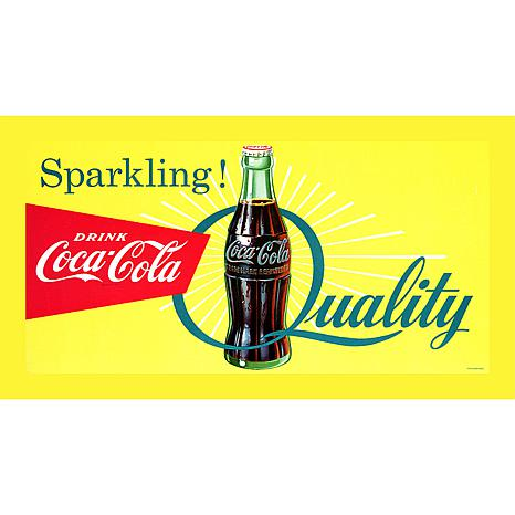 "Coca-Cola ""Sparkling Quality"" Stretched Canvas Print"