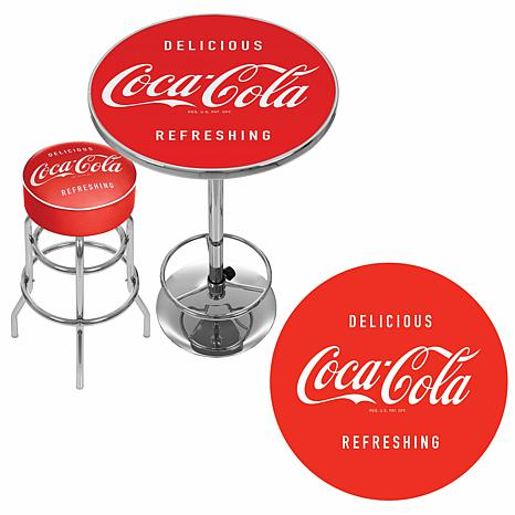 ... Coca Cola Ultimate Gameroom Combo   2 Bar Stools/Table