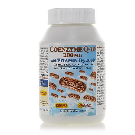 CoEnzyme Q-10 200 with Vitamin D3 2000 - 30 Capsules