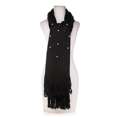Collection 18 Embellished Muffler Scarf