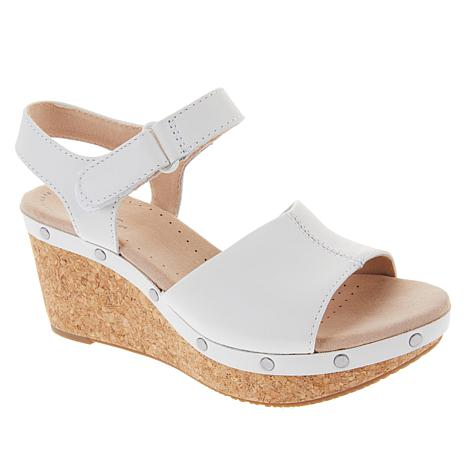 Collection by Clarks Annadel Clover Leather Wedge Sandal