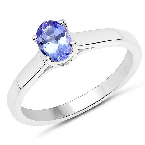 top ring oval tanzanite cluster
