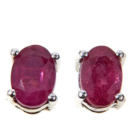 Colleen Lopez 1ctw African Ruby Stud Earrings