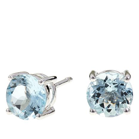Colleen Lopez 2ctw Round Aquamarine Stud Earrings