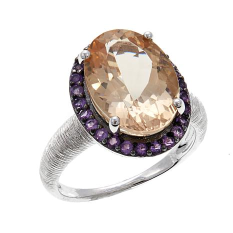 Colleen Lopez 5.25ctw Morganite and Amethyst Ring