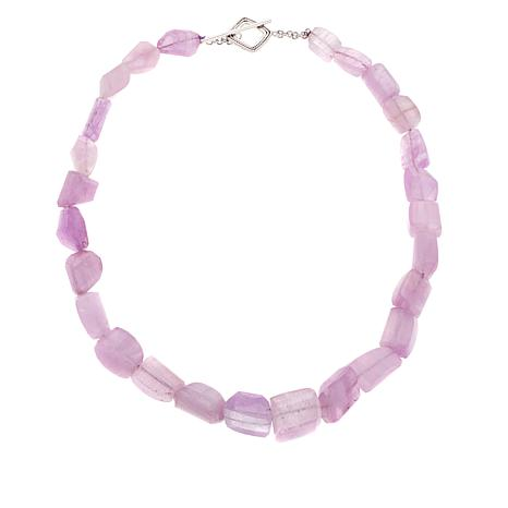 "Colleen Lopez 634.8ctw Pink Kunzite Bead 19"" Necklace"