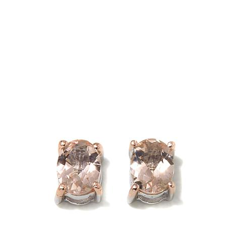 """Colleen Lopez """"At First Blush"""" Morganite Stud Earrings"""