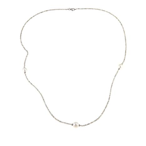 "Colleen Lopez Baroque Cultured Pearl and Labradorite 36"" Necklace"