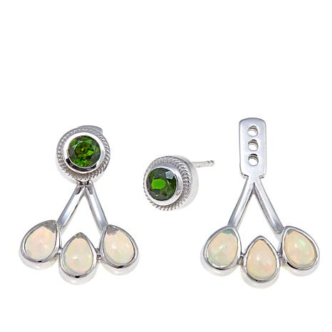 Colleen Lopez Chrome Diopside & Ethiopian Opal Earrings