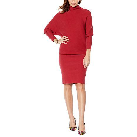 Colleen Lopez Dolman-Sleeve Sweater Dress
